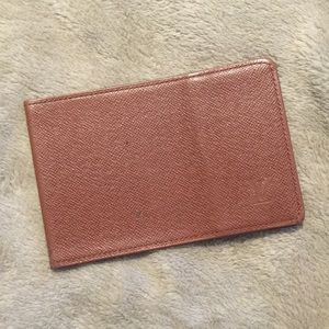 LV Taiga leather card holder / wallet
